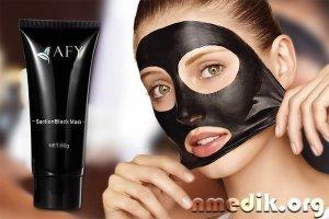 Черная маска для лица - от черных точек, прыщей и жирной кожи